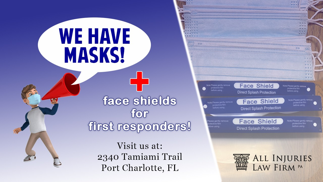 We Have Free Masks And Face Shields For Medical Workers, First Responders, and Teachers!